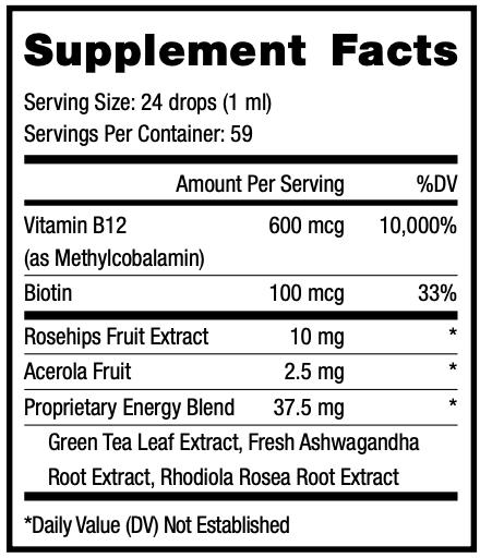 Xceler Supplement Facts
