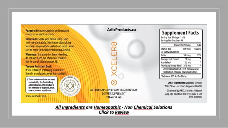 Xceler8 Product Label