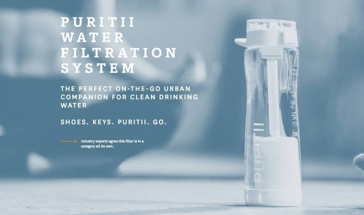 Puritii Water filtration front page image